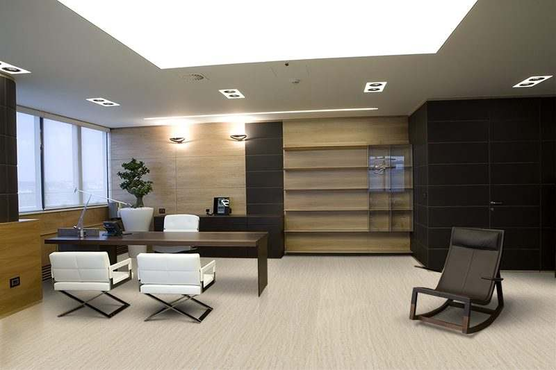 travertine design concept cork floor interior office modern apartment - 11+ Small Home Office Design Concepts  Images