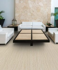 travertine design concept floating cork flooring lounge lobby area hotel office modern five stars interior design