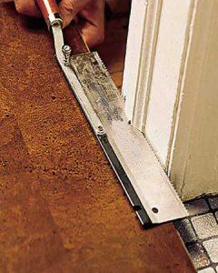 trim doorway moulding install cork floor