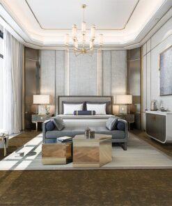 walnut burlwood forna cork flooring luxury bedroom hotel bedroom green flooring options