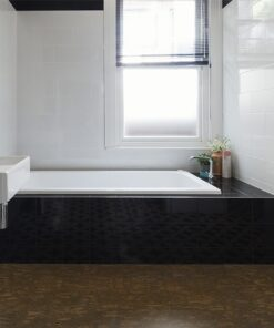 walnut burlwood waterproof cork tiles designer bathroom renovation
