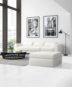 white bamboo colour floor interior modern design loft