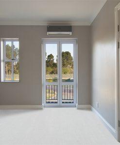 white bamboo cork floors bedroom inside modern house view