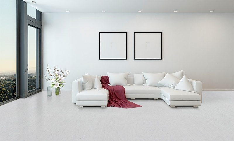 white bamboo forna cork floors architectural interior open concept apartment high
