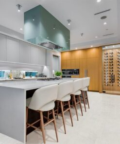 white cork floor forna white leather kitchen