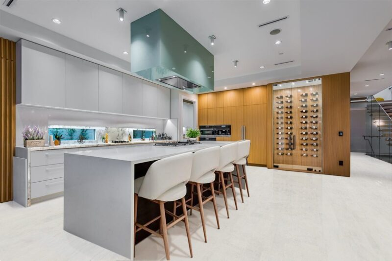 white cork floor forna white leather kitchen
