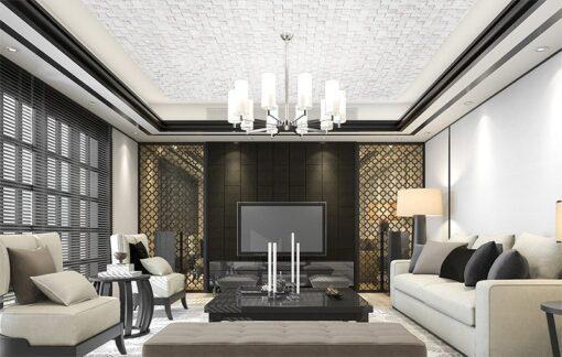 white cubes cork ceiling tiles acoustic soundproofing
