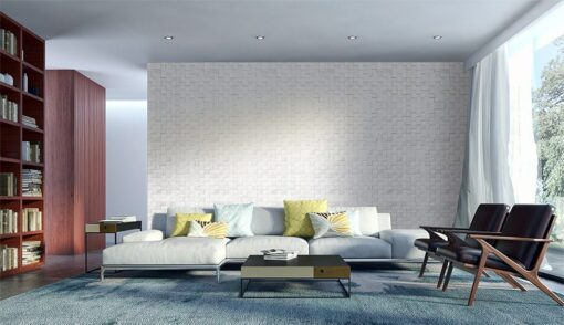 white cubes peel and stick sound absorbing cork wall panels living room
