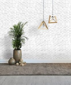 white cubes peel and stick sound absorbing cork wall panels living room grey floor