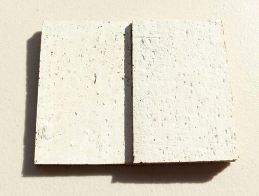 white cubes sound deadening peel and stick cork wall panels sample