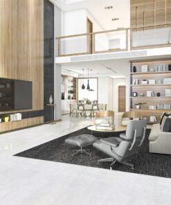 white leather cork floor luxury modern living room