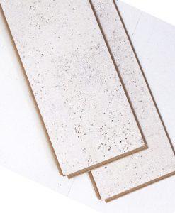 white leather cork flooring plank