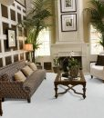 white leather cork floors living room luxury modern design decor
