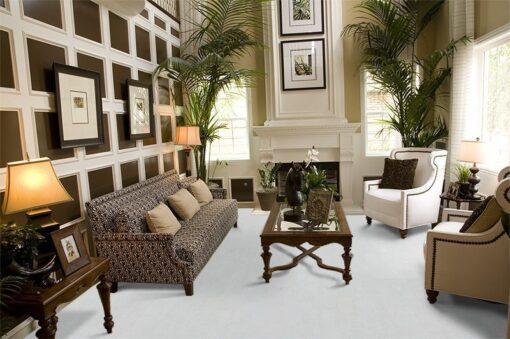white leather cork floors living room luxury modern design decor