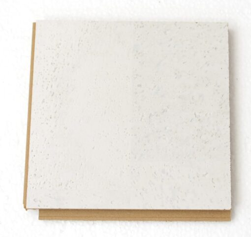 white leather floating cork flooring 12mm sample