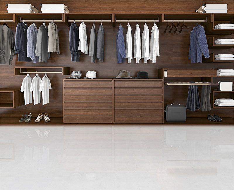 white leather forna cork flooring beautiful wood horizontal wardrobe walk in closet