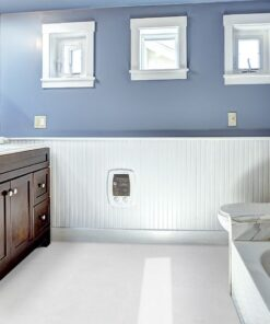 white leather forna waterproof cork tiles water bathroom with vanity cabinet