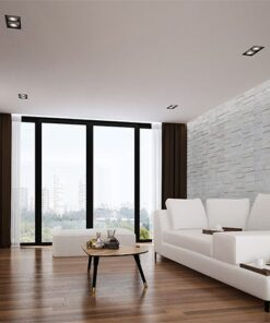 whitewashed brick peel and stick 10mm cork wall tiles soundproof living room studios acoustic music