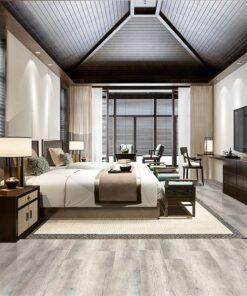 wide oak wood design cork flooring hotel grey luxury bedroom suite resort