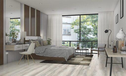 wild oak design resilient cork floating floor living room