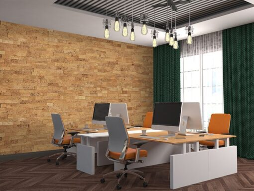 wood bricks cork wall panels green studio soundproofing material