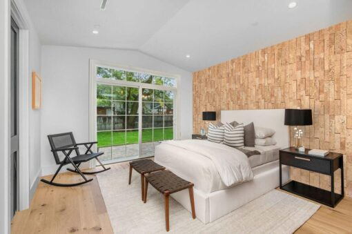 wood bricks cork wall panels sustainable soundproof apartment