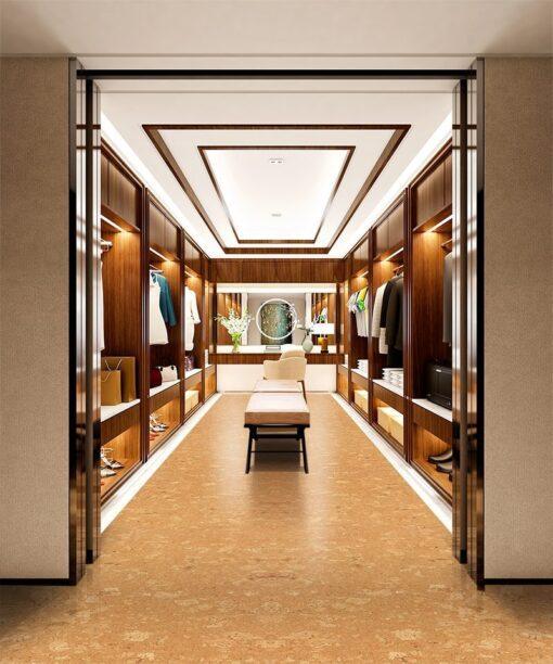 wood ridge 12mm cork flooring interior design fashion walk in closet